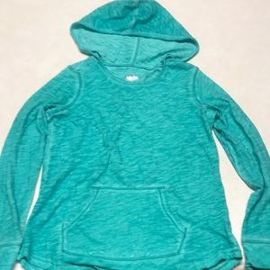 Justice Shirts & Tops - Girls teal Justice pull over long sleeve shirt